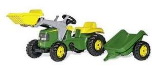 John Deere Ride-on Tractor with Loader and Detachable Trailer £60 @ Amazon