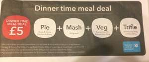 New Co-Op Meal Deal - Steak & Ale or Chicken & Gravy Pie (550g) + Mashed Potato (400g) + Veg Mix (250g) + Strawberry (600g) or Chocolate (500g) Trifle £5 (£4.50 NUS)