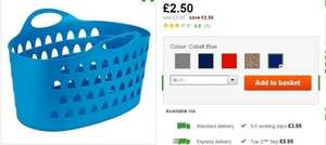 Flexi Laundry Basket (5 colours) Half price £2.50 @ Dunelm Online and In store Free C&C