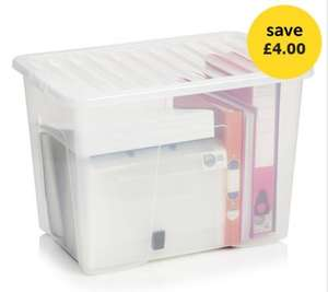 80 Litre storage box with lid (Black/Clear). was £9. Now £5 @ Wilko. Online and Instore. Free C&C