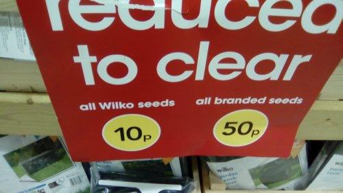 wilko seeds 10p