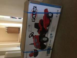 New Falk Farm Master Tractor & Trailer Ride On instore at Tesco £29.50 or online at Tesco direct for £30 (free click and collect or £3.00 standard delivery)
