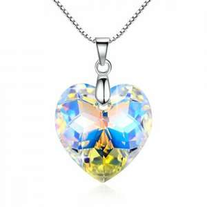Heart shaped pendant necklace - should be £82.22 now £14.44 (Prime) or £23.99 (without Prime) Sold by GoSparkling and Fulfilled by Amazon (lightning deal)