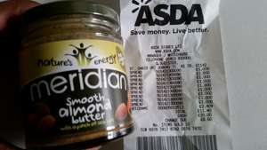 MERIDAN Almond butter, 170g Jar. £1 EACH @ Asda instore