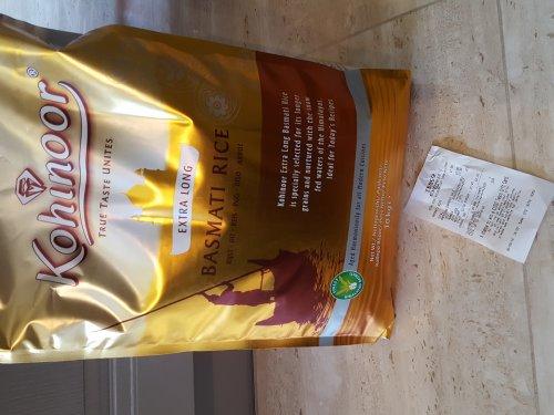 Kohinoor Gold Extra Long Basmati 10kg £7.50 Tesco