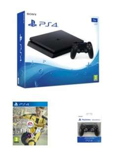 ps4 slim 1tb + Fifa 17 + extra controller £299.99 @ GAME