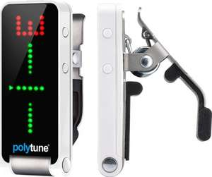 TC Electronic Polytune clip Polyphonic clip on guitar tuner. £29.99 @ Amazon