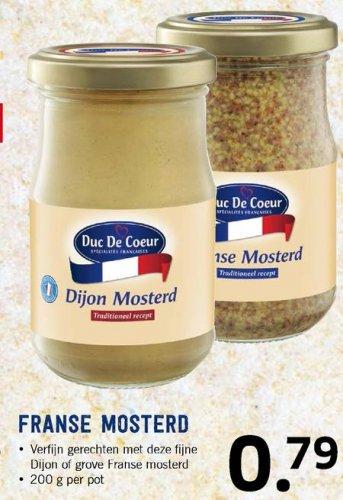 Duc de Coeur Dijon or Rotisseur mustard 39p @ Lidl (& French bargains galore)