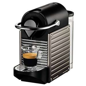 Nespresso Pixie Automatic Coffee Machine by KRUPS (Titanium or Red) + 3 year guarantee £59.00 delivered at John Lewis