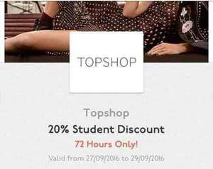Topshop 20% Student Discount INCLUDING SALE! - UNiDAYS or Student Beans.