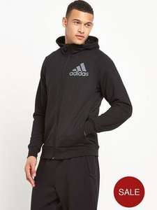 Adidas mens Prime Hoody track top (black sizes small / Medium / Large only) £21.75 at very, free delivery with click n collect + quidco