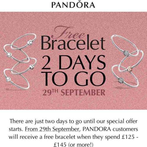 Pandora free bracelet with £125 spend @ Pandora