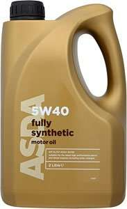 Asda 5 litre fully synthetic 5W40  motor oil was £20 now down to £13.