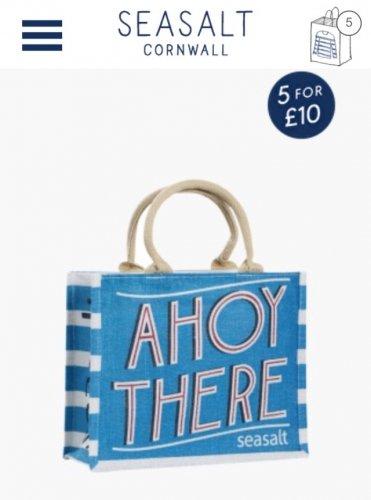 Sea salt jute bags 5 for £10 / £14 delivered @ Sea salt