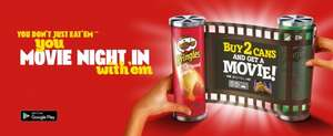 Free google play Movies with 2 cans of Pringles £2.50 @ Asda