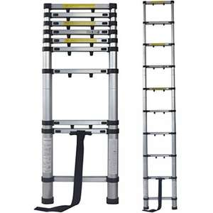 Terratek 2.9m Telescopic Extendable Ladder, £39.95 + £6.95 delivery. @ Amazon (Dispatched from and sold by Futura Direct Ltd)