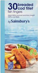 Sainsbury's Breaded Cod (64%) Fish Fingers (30 per pack - 900g) Only £2.55 @ Sainsbury's