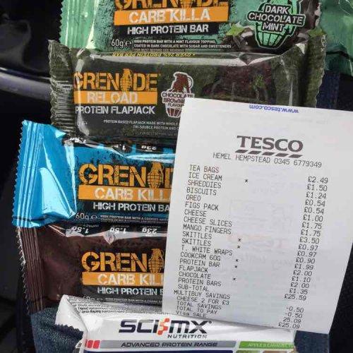 grenade carb killer/protein flapjack reduced £2 in Tesco Hemel