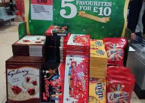 5 boxes of chocolates for £10 at COOP