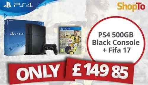 PS4 500gb + FIFA 17 £149.85 (from midnight) at Shopto.net