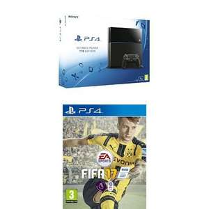 Sony PlayStation 4 1TB Console + FIFA 17 at Amazon for £179.99