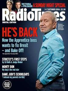 12 Issues of Radio Times Magazine Subscription (Inc Xmas Edition) - £1.00 - BuySubscriptions