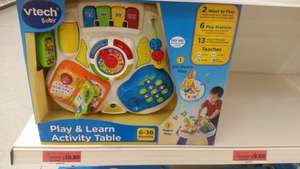 V-Tech Baby Play & Learn activity table -  £10.80 Sainsburys