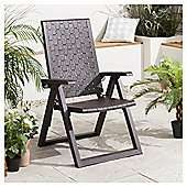 5 Position Rattan Design Reclining Garden Chair, Wengue now £10 C+C @ Tesco Direct