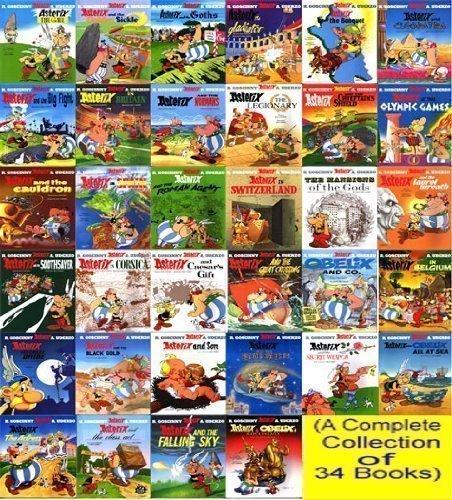 Free full set of Asterix comics (36 comics) plus extras (pdf, kindle e tc) at archive.org.