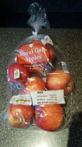 6 pack gala apples for 34p after ( 25p cashback offer for gala apples.) @ Aldi