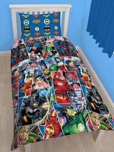 DC Comics Justice League Reversible Single Duvet Cover Set now £10.80 at Very (more in 1st comment)