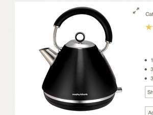 Tesco Morphy Richards Pyramid Kettle, 1.5L - Black  was 49.50 - £12