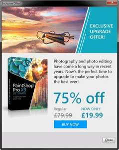 Corel Paint Shop Pro X9 Ultimate (Full Version) RRP £79.99 + Bonus Collection - £19.99 (Existing Users)