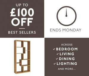 Matalan up to £100 off best sellers across bedroom, living & dining, lighting