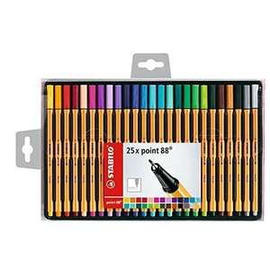 Stabilo point 88 Fineliners wallet of 25 only  £7.00 (prime) Amazon