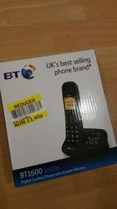 BT1600 Single Digital cordless phone with answer machine £1.40 @ Tesco Oldham