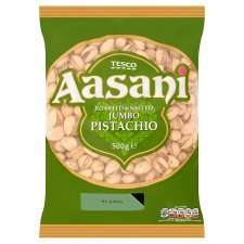 Aasani Roasted And Salted Jumbo Pistachios 500G £5.00 @ Tesco