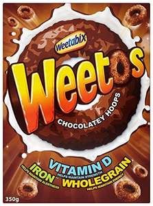 350g box of chocolate weetos cereal 89p at just the job st Helens