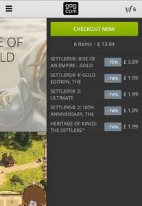 Settlers series - 6 full games on PC, (games in comments) - £13.84 @ GOG.com