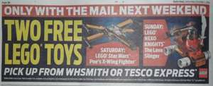 """""""Free"""" Lego Toys Daily Mail, Mail On Sunday 8th/9th, 15th/16th, 22nd Oct at WHSmith and Tesco Express"""