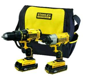 Stanley Fatmax FMCK465C2 Cordless 18v Drill Driver & Impact Driver Combi Kit £109.97 @ Homebase - Leicester