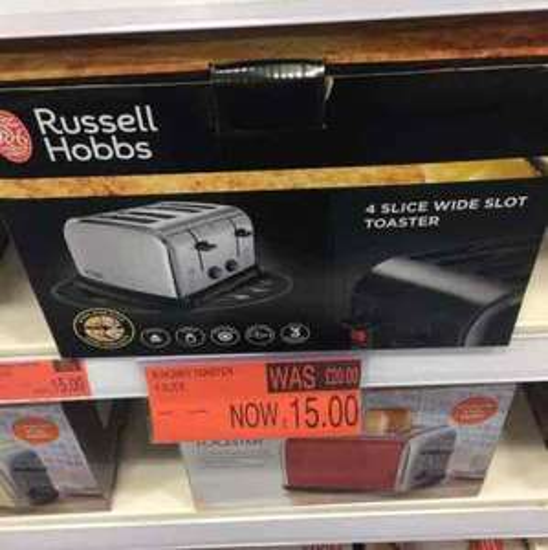 Russel Hobbs 4 slice wide slot toaster £15 B&M in store