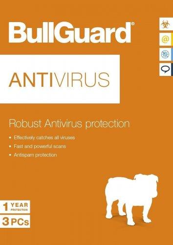 BullGuard Antivirus - 1 Year - 3 Users (PC) £5 @ unitronics / ebay