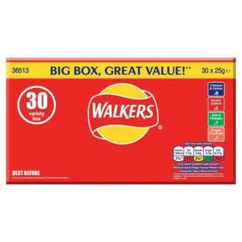 Walkers Variety Box 30 x 25g £2.95 Wilkos