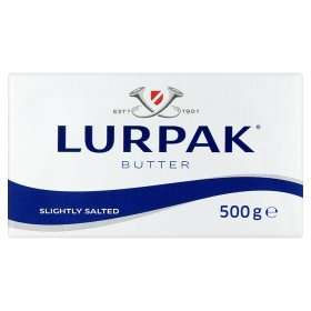 Lurpak Slightly Salted and Unsalted Butter large 500g BLOCKS (not spreadable tubs) £2 down from £3.25 at Asda.