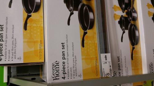 4 piece pan set £5 in store at Asda - Fareham