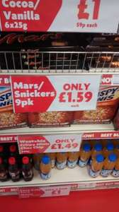 9 Pack Mars Bars only £1.59 at Heron Foods