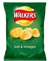 Walkers 6 Pack Salt and Vinegar Crisps only 59p at Heron Foods