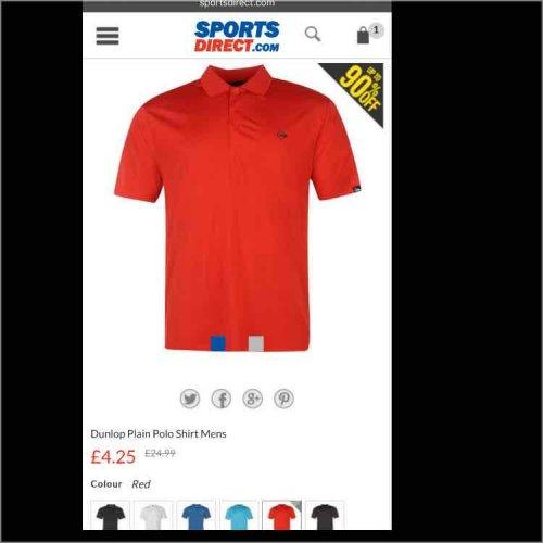 dunlop planu polo shirt mens £4.25 + postage @ Sports Direct