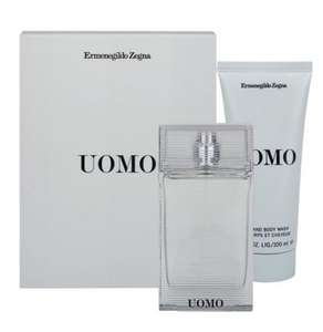 ERMENGILDO ZEGNA  Zegna Uomo EDT 50ml & Hair and Body Wash 100ml Gift Set @ Beautybase for £15.00 Free Delivery With code LAST1
